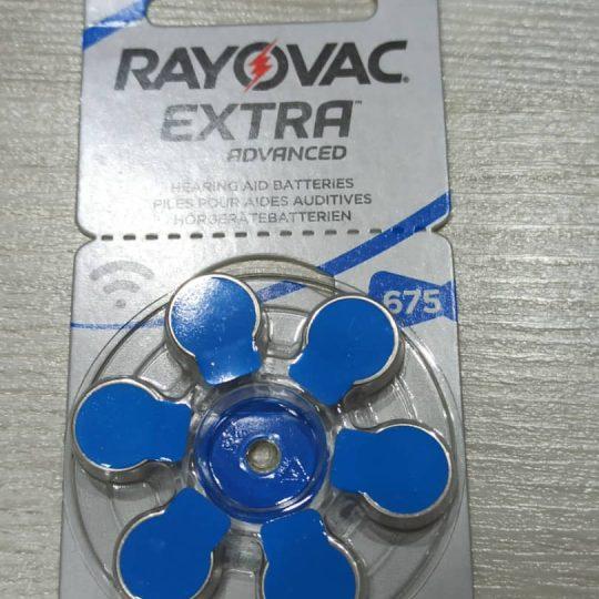 باتری سمعک ریوواک Rayovak سایز 675