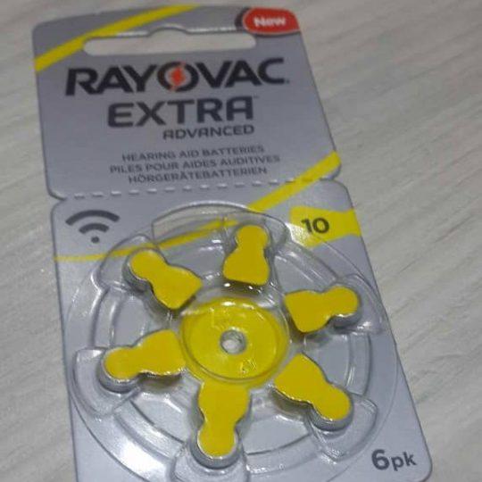 باتری سمعک ریوواک Rayovak سایز 10